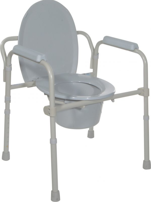 Folding Steel Commode