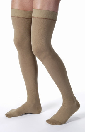 Thigh High Ribbed With Silicone Border Men's Compression Socks