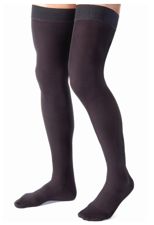 Jobst for Men 15-20 mmHg Thigh High Ribbed w/ Silicone Border-3142