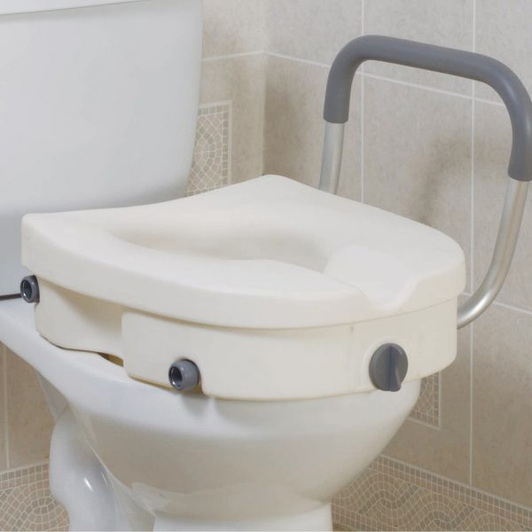 Raised Toilet Seat (w/ Removable Arms)-1228