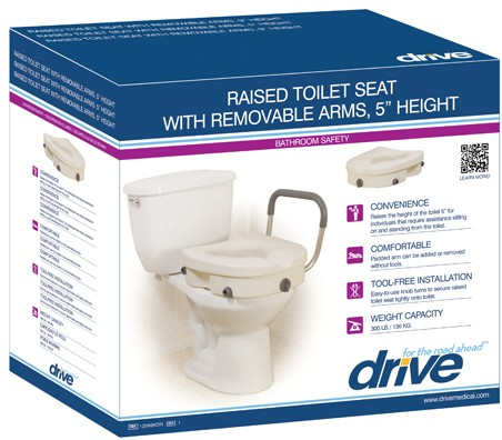 Raised Toilet Seat (w/ Removable Arms)-1230