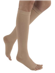 SIGVARIS Natural Rubber 30-40mmHg Knee High Open Toe-0