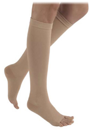 SIGVARIS Natural Rubber 40-50mmHg Knee High Open Toe-0