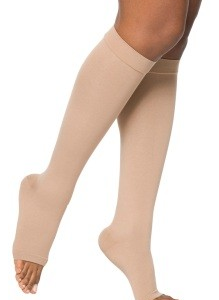 SIGVARIS Select Comfort 20-30mmHg Knee High Open Toe w/Grip Top-0