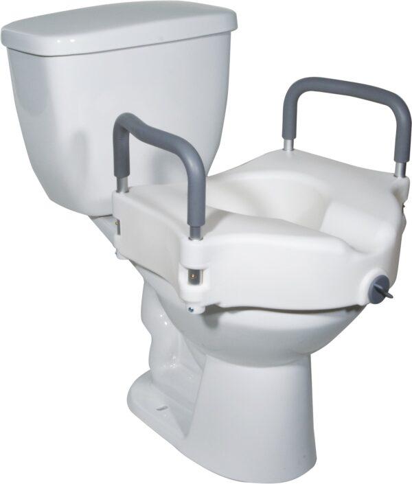 Raised Toilet Seat (Removable Arm)
