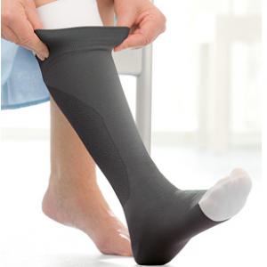 Jobst Ulcercare Therapeutic Open Toe Knee High 40 mmHg Compression Stocking and Liner-0