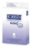 Jobst Relief 30-40 mmHg Open Toe Thigh High w/ Silicone Dot Band-0