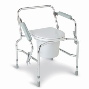 Medline Steel Drop-Arm Commode-0