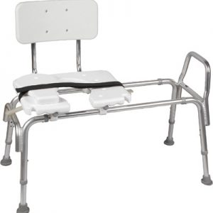 Heavy Duty Sliding Transfer Bench With Cutout Seat