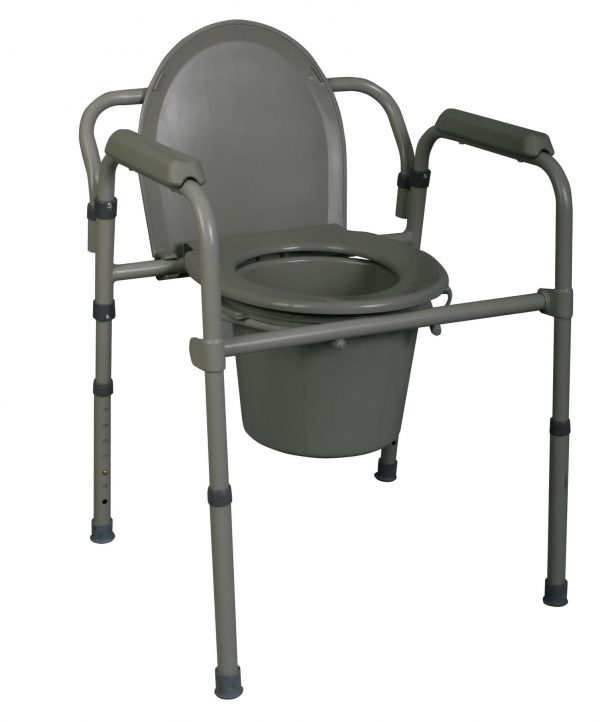 Medline 3-in-1 Steel Commode-0