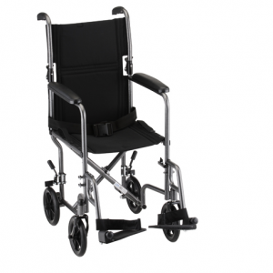 "17"" Steel Transport Chair"