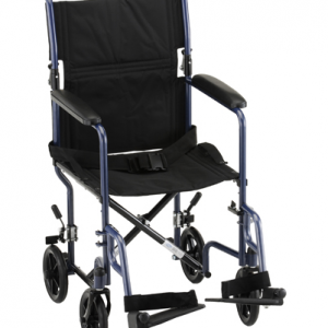 "19"" Steel Transport Wheelchair"