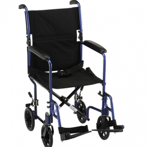 19 inch Transport Chair with Fixed Arms