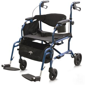Combination Rollator With Transport Chair