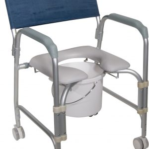 Aluminum Shower Chair and Commode-0