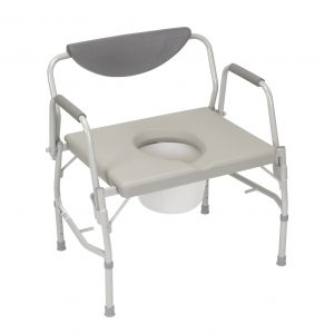 Deluxe Bariatric Drop-Arm Commode-0