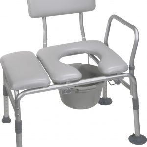 Combination Padded Transfer Bench/Commode-0