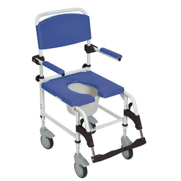 "Aluminum Rehab Shower Commode Chair with 5"" Casters-3941"