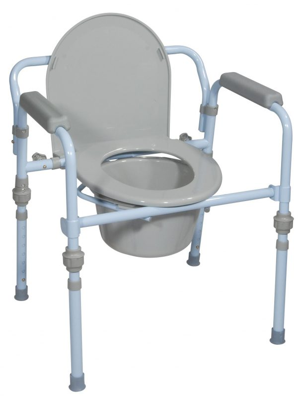 Folding Steel Commode, Retail-0