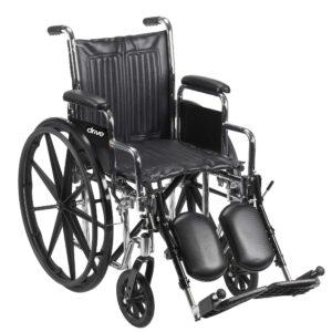 """Chrome Sport Wheelchair 18""""-0"""