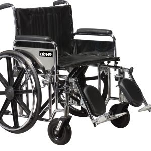 "Bariatric Sentra Extra-Heavy-Duty Wheelchair 20""-0"