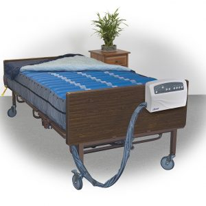 "Med-Aire Plus 10"" Bariatric Alternating Pressure and Low Air Loss Mattress Replacement System-0"