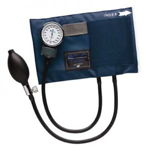 CALIBER™ Aneroid Sphygmomanometers with Blue Nylon Cuff, Large Adult-0