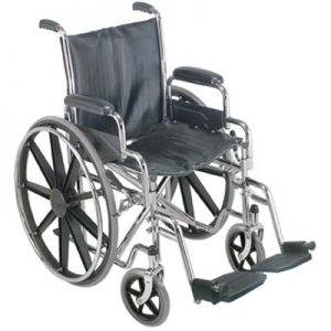 """18"""" Wheelchair with Removable Desk Arms-0"""