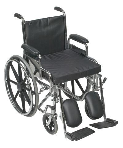 """Gel/Foam Flotation Cushion, 16"""" x 20"""" x 2"""", Nylon, Black-6090"""