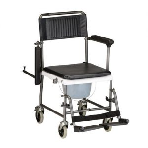 DROP-ARM TRANSPORT CHAIR COMMODE-0