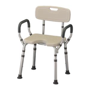 Bath Seat with Arms & U-Shaped Cutout-0