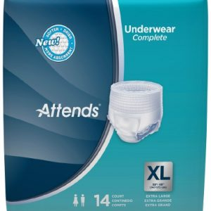 Adult Absorbent Underwear Attends® Pull On X-Large Disposable Heavy Absorbency-0
