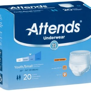 Youth Absorbent Underwear Attends® Pull On Small Disposable Heavy Absorbency-0